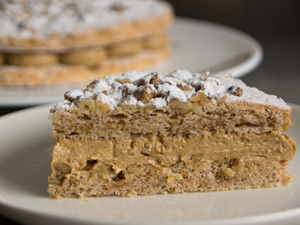 Coffee Walnut Dacquoise