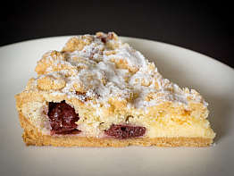 Cherry Crumble Tart