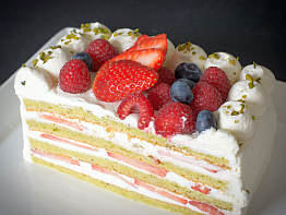 Pistachio Strawberry Shortcake