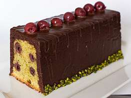 Cake Griotte Pistache