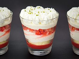 Glass Dessert Strawberry Shortcake